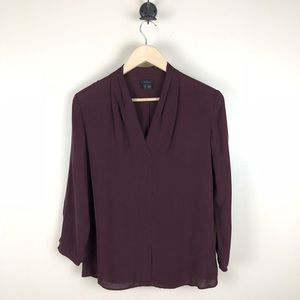 Theory Helona Silk Top Blouse Size Small